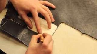 Leather goods making