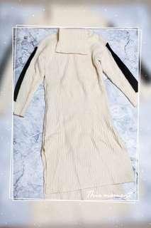 高領針織連身裙