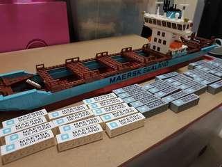 Lego Maersk Sealand Container Cargo Ship