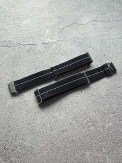 [Last Batch!] Black MN French military Parachute Lugran Erika Original Style Elastic Strap Watch 20mm Marine Nationale