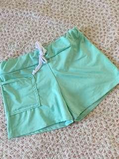 Mint green swimsuit shorts