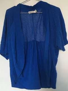 Faded Glory Blue Cardigan