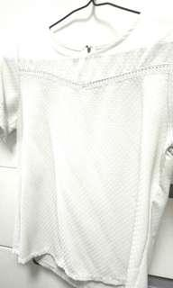 白色爽料襯衫上衣
