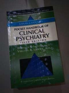 KAPLAN & SADOCK'S Pocket Handbook of Clinical Psychiatry - 5th Ed (Original Copy)
