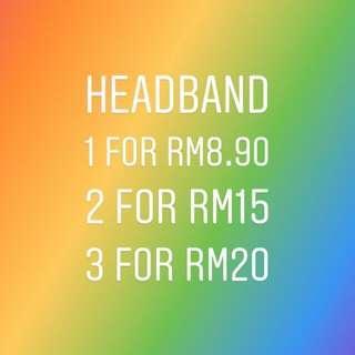 Assorted headbands #mmar18