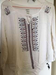 F21 boho blouse