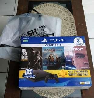 Playstation 4 PS4 Slim 500GB 2106Ab HDR Beli Feb 2019 Fullset
