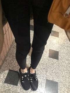 🚚 黑褲子 適合瘦子的 全長約85公分 緊身褲 全黑