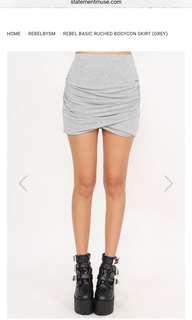Bodycon skirt grey
