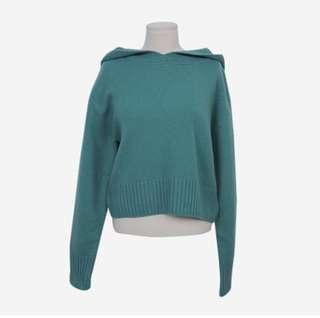Baby blue sweater capuchon
