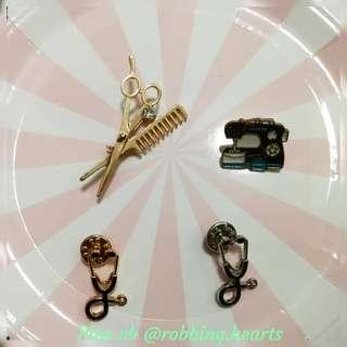🚚 [In Stock] Occupational Enamel Pin Hairstylist Seamstress Doctor