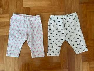 🚚 Uniqlo toddler cropped leggings / pants 80cm