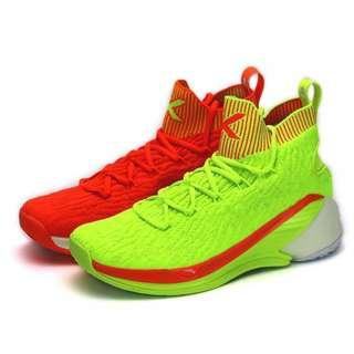 Anta 2019 Klay Thompson KT4 US8.5 Men's Basketball Shoes Red/Green