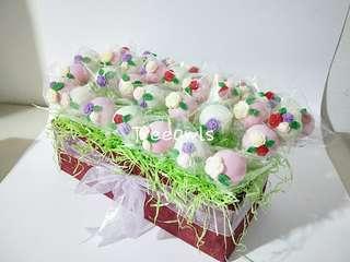 Flowery Cake Pop 🌹