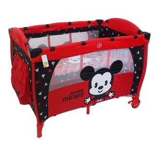 Disney Mickey Mouse Playpen / Cot / Bed