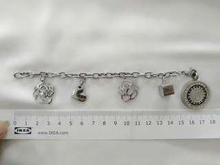 Stainless steel Thomas Sabo inspired charm bracelet