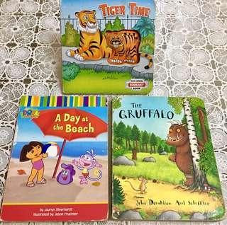 Book for Kids (Dora, The Gruffalo, Tiger Time)