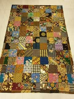 Batik patchwork blanket