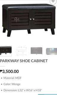 Shoe rack cabinet bench