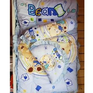 Advance Baby Mattress Set with Pillow and Bolster (Blue) - $30