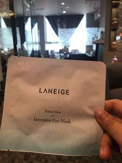 Laneige white dew intensive eye mask 水光亮合修護眼膜 expire 2021/11/13