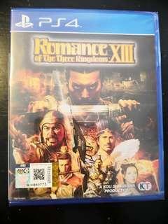 PS4 *New & Sealed* Romance Of The Three Kingdoms XIII