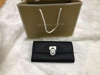 Michael Kors Long Saffiano leather wallet