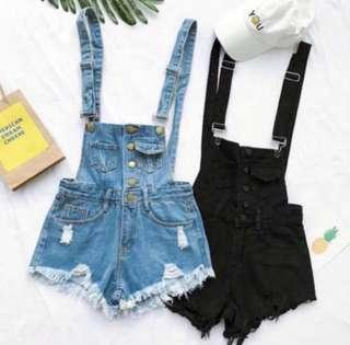 black denim overalls ulzzang
