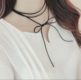 black suede ribbon choker