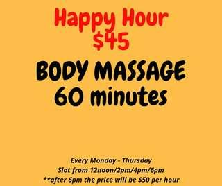 Body Massage For LADIES ONLY!!