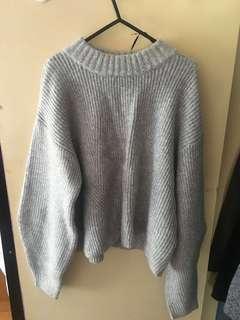 H&M grey wool sweater