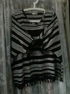 Baju kelawar baggy [stripe]
