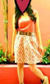 Bayo peach summer dress