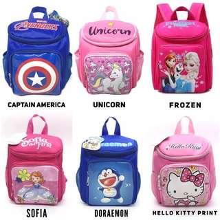 🚚 [Sale] Baby Toddler Pre School Frozen Avengers Doraemon Bag Backpack