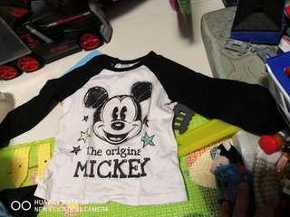 H&M kids Disney Mickey mouse long sleeve tshirt