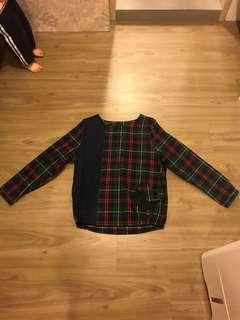 蘇格蘭格子棉麻上衣(春裝)