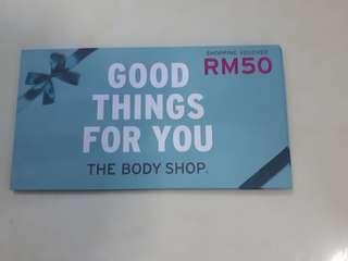 Body shop vouchers