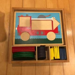 🚚 Wooden Toy- Shapes and Colours