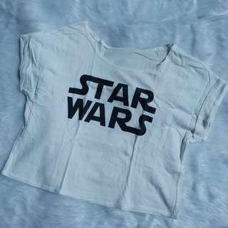White Star Wars Crop Top