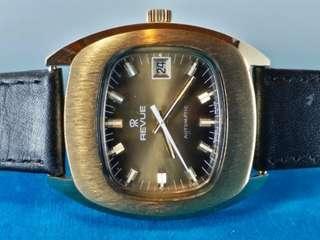 REVUE ~ 總統錶~ 全新古董錶NOS , 機械自動 automatic, 行走正常 ,大約39mm