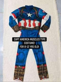 Capt america muscles type costume