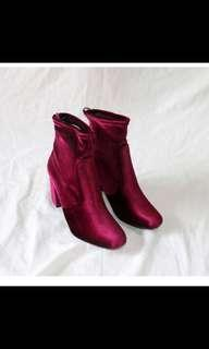 Boots red size 39 heel 7.5cm