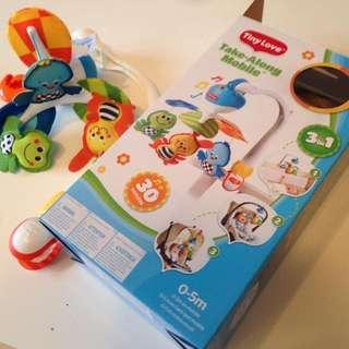 (cheapest with battery!) Tiny Love Take Along Baby Mobile