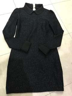 Lacy collared little black dress