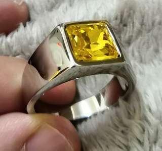 Citrine Crystal Ring