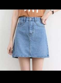 🚚 Light Blue Denim Skirt