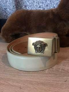 Versace Medusa Leather Men's Belt Original