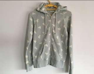 🚚 Uniqlo Cabbages & Roses Horse Print Full Zip Hoodie