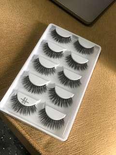 5pcs mink false eyelashes