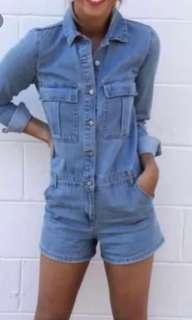 Sportsgirl denim play suit